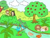 childrens sunday school activity  garden  eden