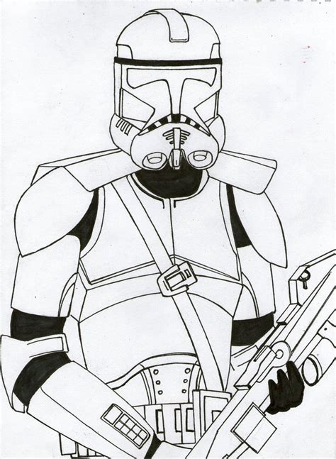 clone helmet coloring coloring pages