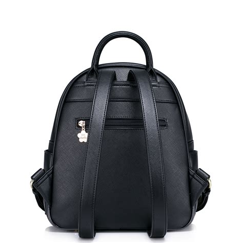 Rabbit Backpack In Visetos Black just pu leather lovely rabbit backpack black