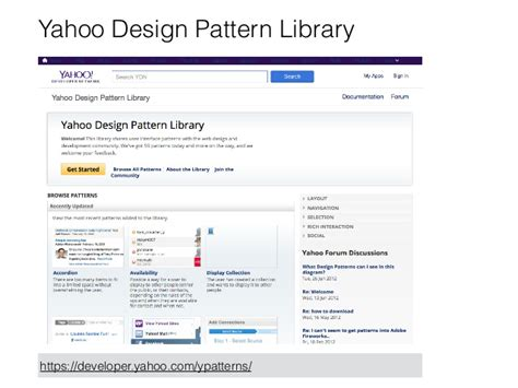 Pattern Library Yahoo   user interface prototyping techniques low fidelity