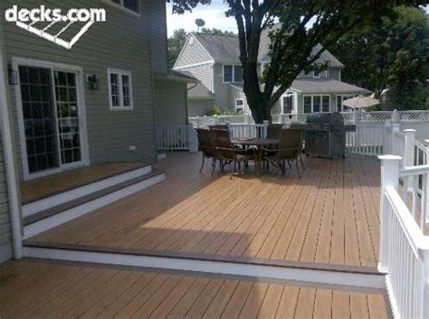decks nj com multi level deck envisioning this without the railing house stuff pinterest