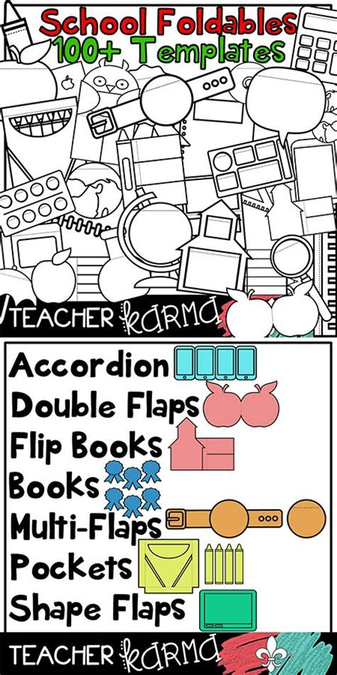 17 Best Images About Tpt Seller S Clipart Kits On Pinterest Borders And Frames Classroom Flip Book Templates For Teachers