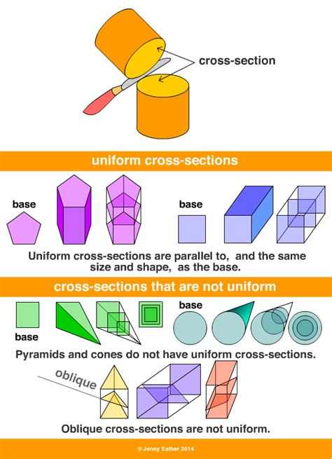 cross sections definition cross section a maths dictionary for kids quick