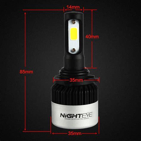 Nighteye Lu Mobil Led Cob 2pcs nighteye 72w 9000lm 9006 hb4 led headlight kit car fog light bulb l white au ebay