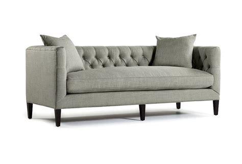 one kings lane sofas rowan 84 quot tufted sofa fog one kings lane furniture
