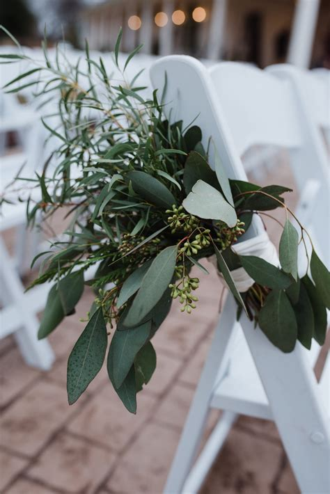 Wedding Aisle Pew Decorations by Greenery Aisle Decoration Pew Marker Outdoor Wedding