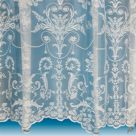 Victoria lace curtain in ivory cream net and voile curtains