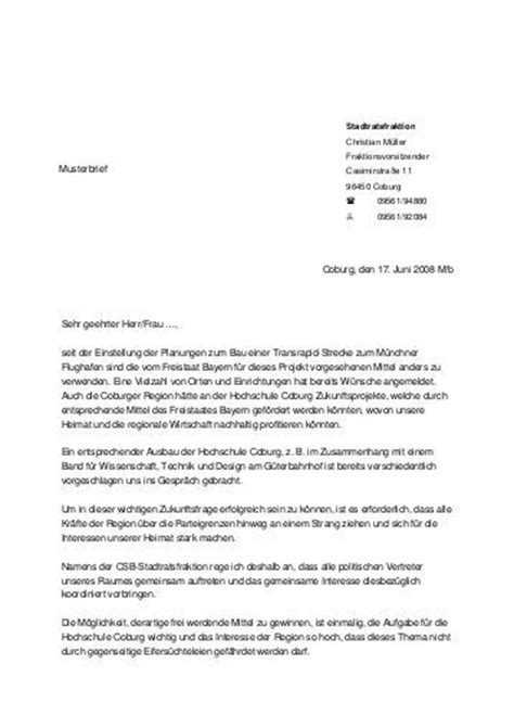 Der Brief Beispiel 02 Ulmann Hans Heinrich