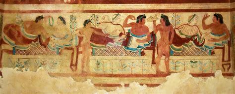 banchetto etrusco gli etruschi a tarquinia tuscia etrusca