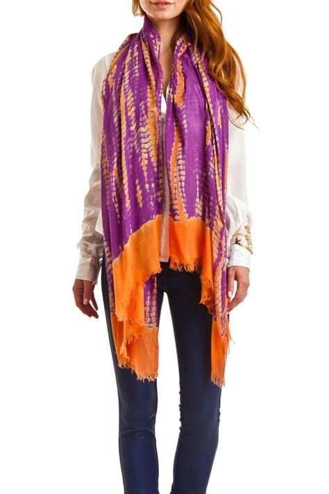 Handcrafted Scarves - violet mar tie dye handmade scarf from san diego by