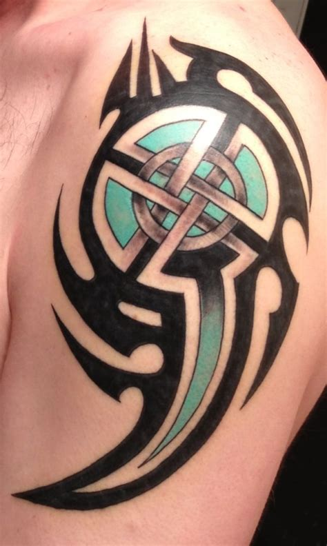 cross shield tattoo best 25 celtic tribal tattoos ideas on cool