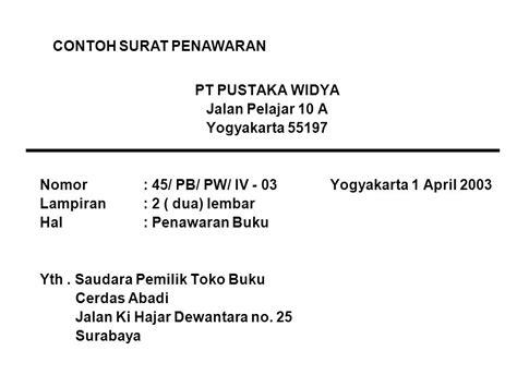 Contoh Surat Niaga Penawaran by Bahasa Indonesia Surat Niaga Ppt