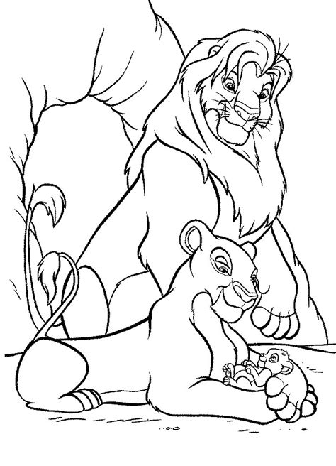 free coloring pages of nala and simba