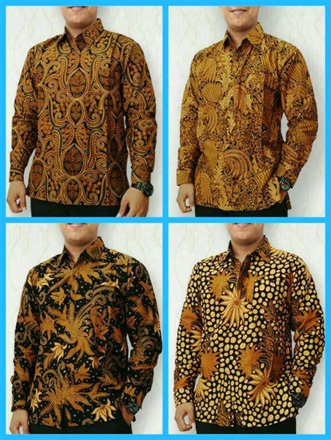 jual kemeja batik klasik hem lengan panjang batik modern