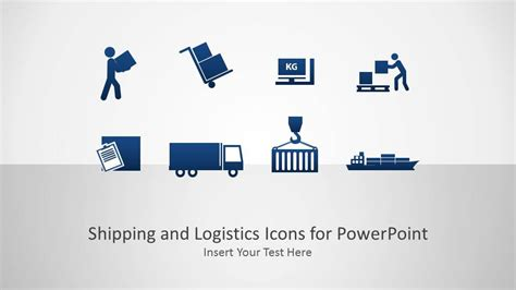 Logistics Ppt Template Free Shipping And Logistics Icons Powerpoint Presentation
