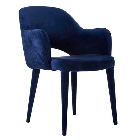 cobalt blue velvet cocktail chair by ella james