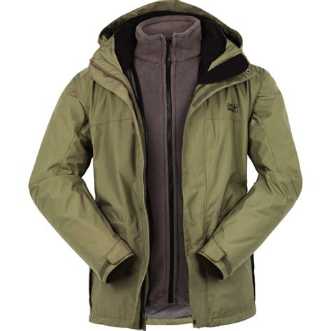 Outdoor Jacket Green Code D 06 wolfskin mens mountain creek 3 in 1 jacket cotswold outdoor