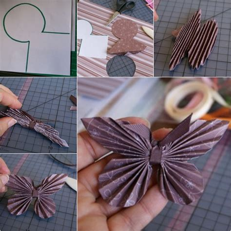 how to diy paper butterfly with paper scrap