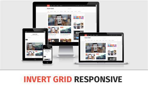 grid layout responsive template invert grid responsive blogger template arlina design