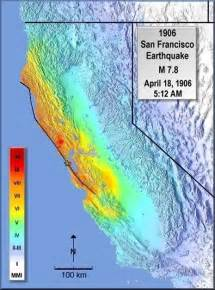 Usgs San Francisco Earthquake Map modified mercalli intensity maps for the 1906 san