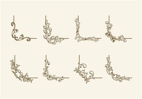 Wedding Border Coreldraw by Vintage Cartouche Border Vector Free Vector