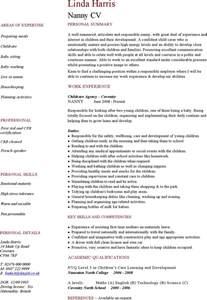 time nanny resume