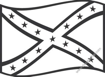 confederate flag coloring page free printable pages sketch