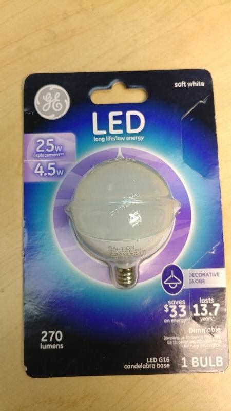 General Electric Led Light Bulbs General Electric 25w Replacement Led G16 Candleabra Base Ceiling Fans Led Bulbs Outdoor