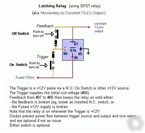 image gallery latching relay circuit schematic