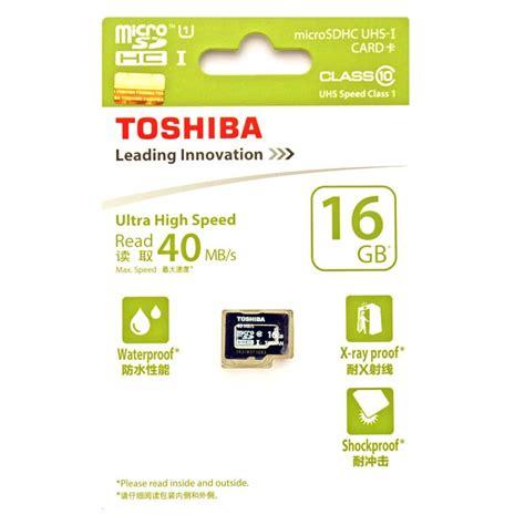 Toshiba Microsdhc Class 10 16 Gb toshiba microsdhc uhs i class 10 40mb s 16gb sd