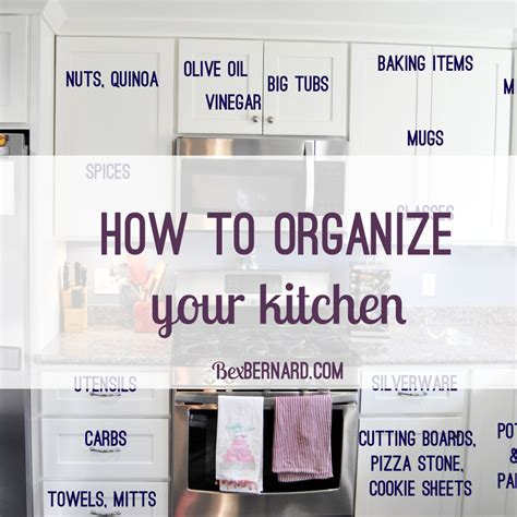 How To Arrange Your Kitchen Cabinets by How To Organize Your Kitchen Home Organization