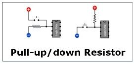 resistor sebagai pull up how pull up and pull resistor works