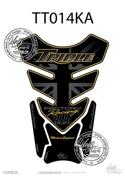 Triumph Aufkleber Gold by Motografix Tankpad Triumph Style Speed Triple R Nice