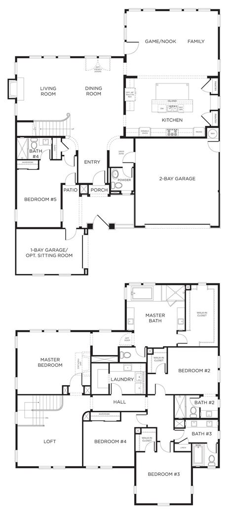 5 bedroom house floor plans 33 best fabulous floorplans images on floor