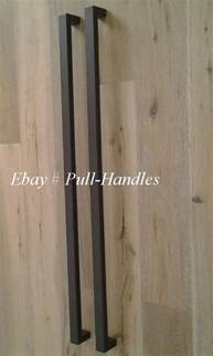 Front Door Pull Handles Entry Front Door Pull Square Handle Black Stainless Steel Entrance Pulls Modern Ebay