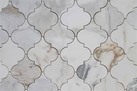 calacatta gold polished arabesque marble mosaic tiles rocky point tile glass and mosaic tile