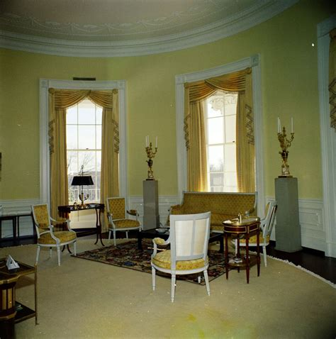 yellow oval office kn c19848 yellow oval room white house john f kennedy