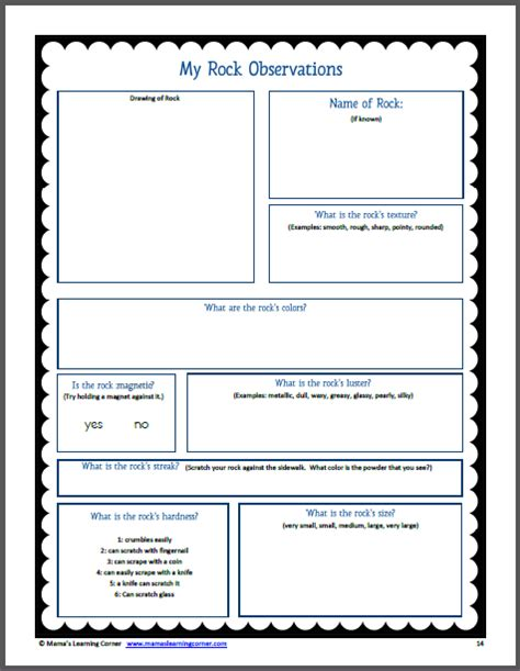 Rocks Worksheet by Rocks And Minerals Unit Study Resource Packet Mamas