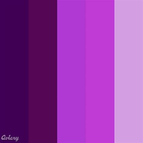 different colors of purple shades of purple purple