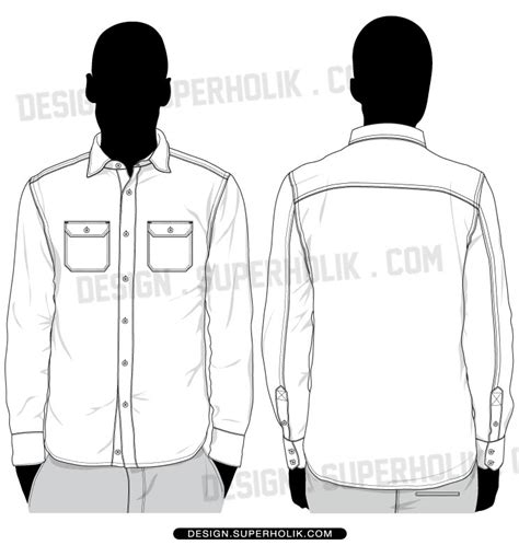 polo pattern ai button up shirts vector template set fashion vector