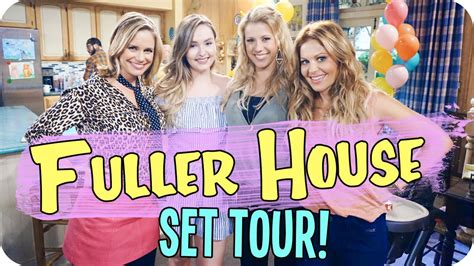 full house set tour fuller house set tour meeting the cast youtube