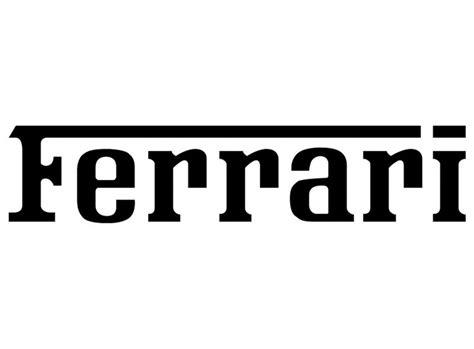 Ferrari Logo Font ferrari logo black font ferrari concept bike pinterest