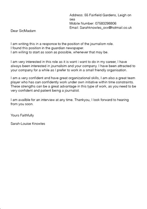 artist cover letter to gallery sle a college work