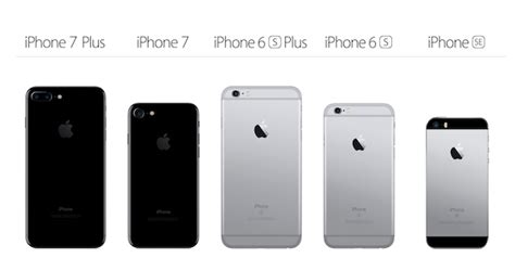iphone 7 vs iphone 7 plus vs 6s vs 6s plus vs se specs comparison redmond pie