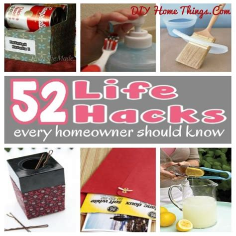 life hacks for home 52 life hacks all the homemakers should know diy home things