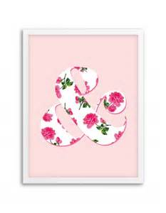 printable wall murals free printable floral ampersand wall art