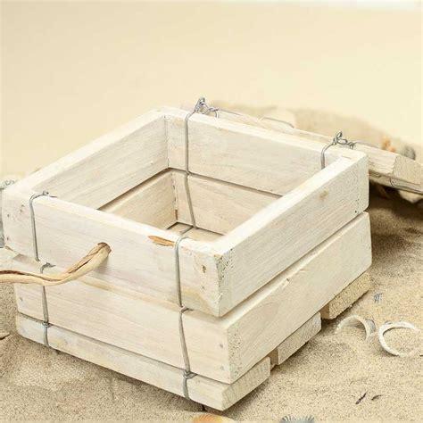 washed wood box l nautical white washed wood box on sale home decor