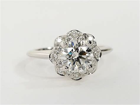 floral halo engagement rings weddingbee