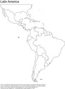and south america blank map