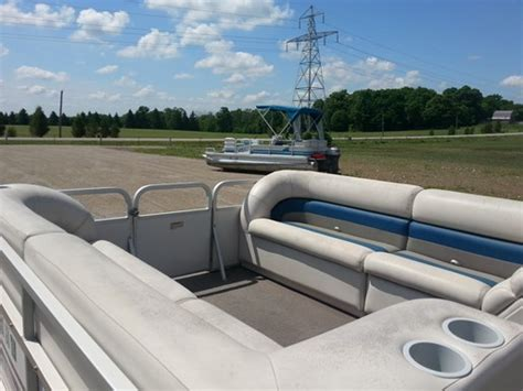 pontoon boats ingersoll manitou 24 manitou pontoon 2000 used boat for sale in